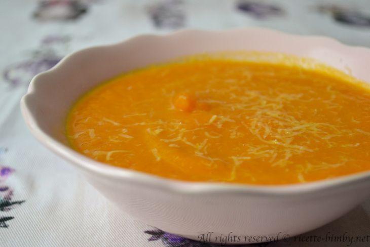 Crema di carote e zucca bimby