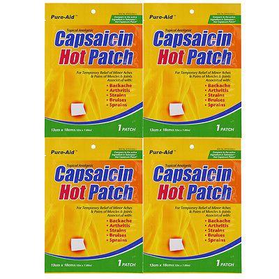 Pure-Aid Capsaicin Hot Patch1ct (4 Pack)