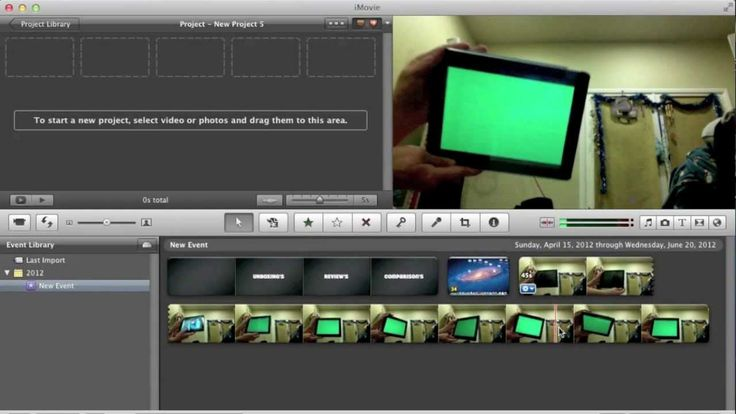 how to use the green screen feature in imovie on your mac