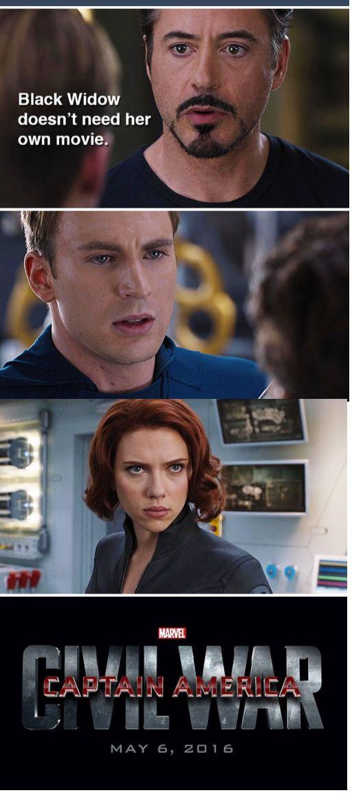 Movie   Civil War   Funny   Captain America vs. Iron Man   Tony Stark   Steve Rogers   Black Widow   Robert Downey Jr.   Chris Evans   Scarlett Johansson   The Cause