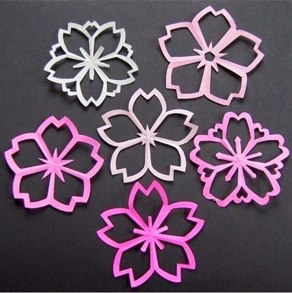 #diy sakura kirigami // five point snowflake style colorwork tam crown ideas
