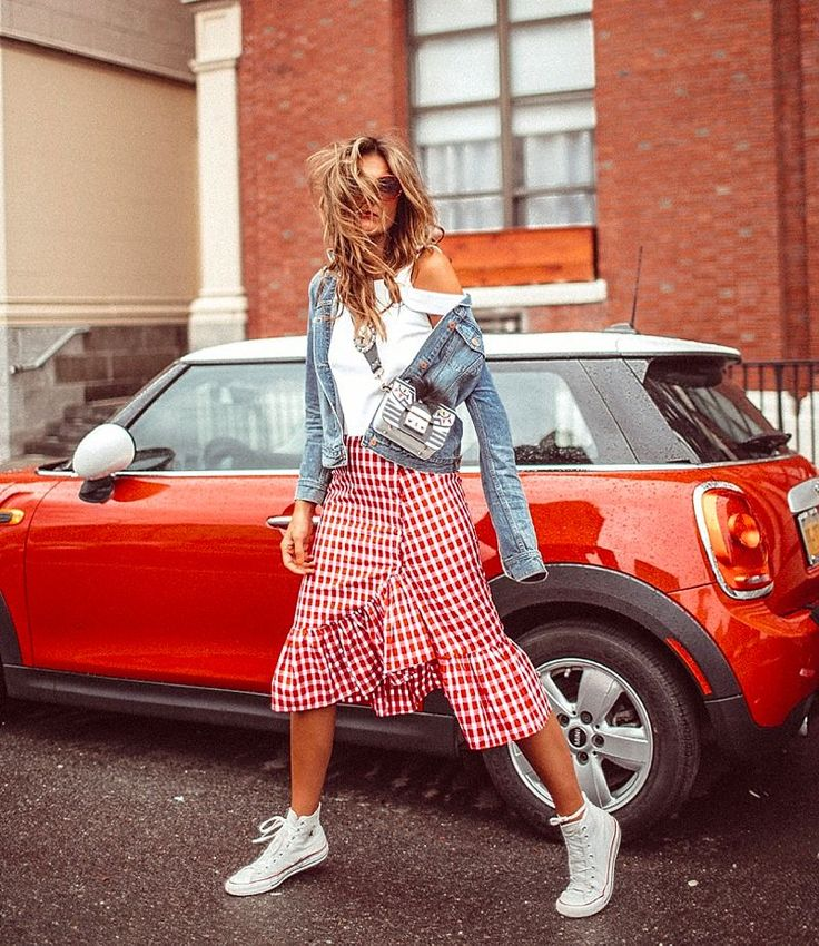 Gingham + ruffles = success this season! White sneakers, straw totes and cat eye sunglasses are also having a moment. Got yourself a favourite summer look?1. BY TEZZA View original...