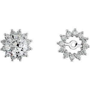 14K White Gold Diamond Earring Jacket RedBoxJewels.com. $929.95
