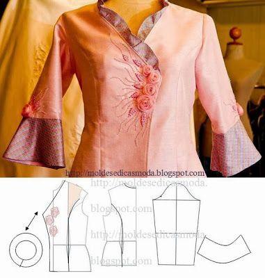 Moldes Moda por Medida: DETALHES DE MODELAÇÃO - 17 Cross Over Jacket