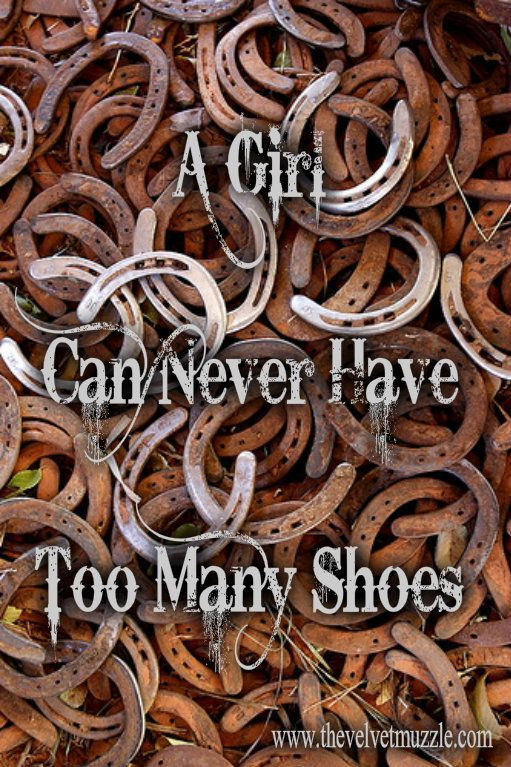 """""""A girl can never have too many shoes"""""""