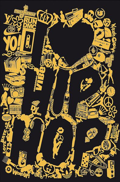 Typography Design of Hip Hop Genre (Art Design)