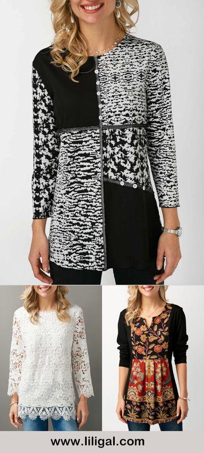 printed tops, printed blouses,  print tops, print blouses for women, print long sleeve tops