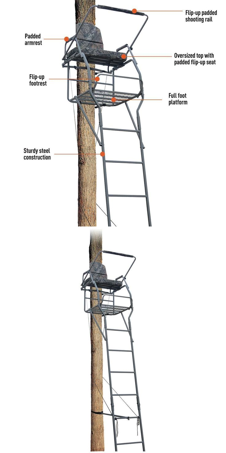 Tree Stands 52508: Ladder Tree Stand Big Xl Wide Jumbo Seat 18 Sniper Rifle Rail Bow Deer Hunting -> BUY IT NOW ONLY: $144.99 on eBay!