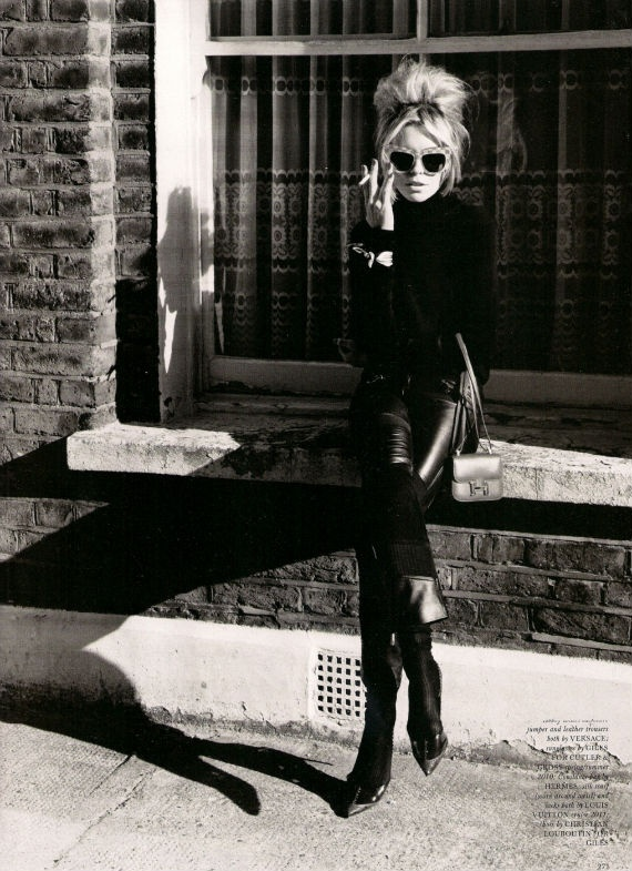 The hair is just so good here. Good hair. / Abbey Clancy for Love Magazine