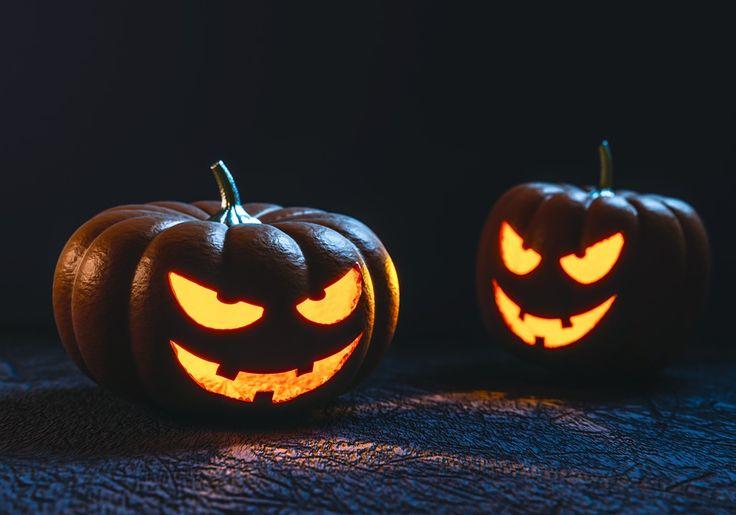 Halloween, Kürbis, Schnitzerei, Gesicht, Gruselig