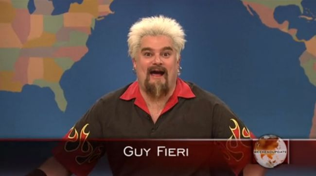 If I wasn't already sitting on the can I would have popped my self from laughing, I love Guy Fieri!