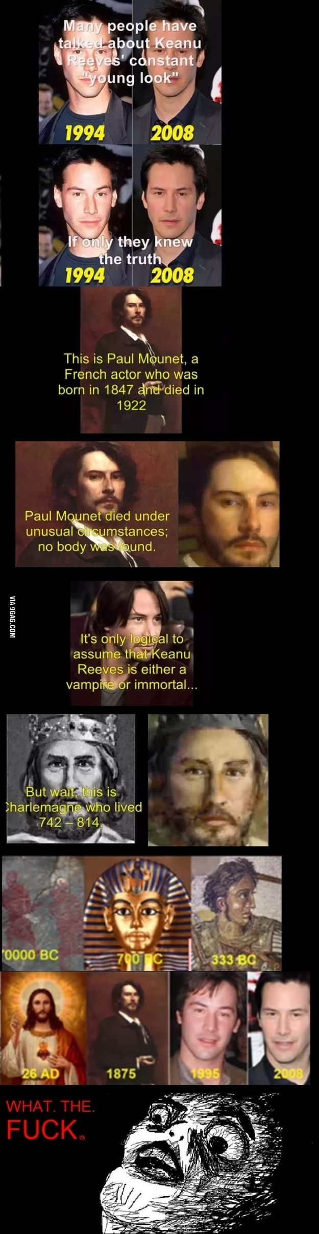 Keanu Reeves might be a time lord! HAHAHAHAHAHA