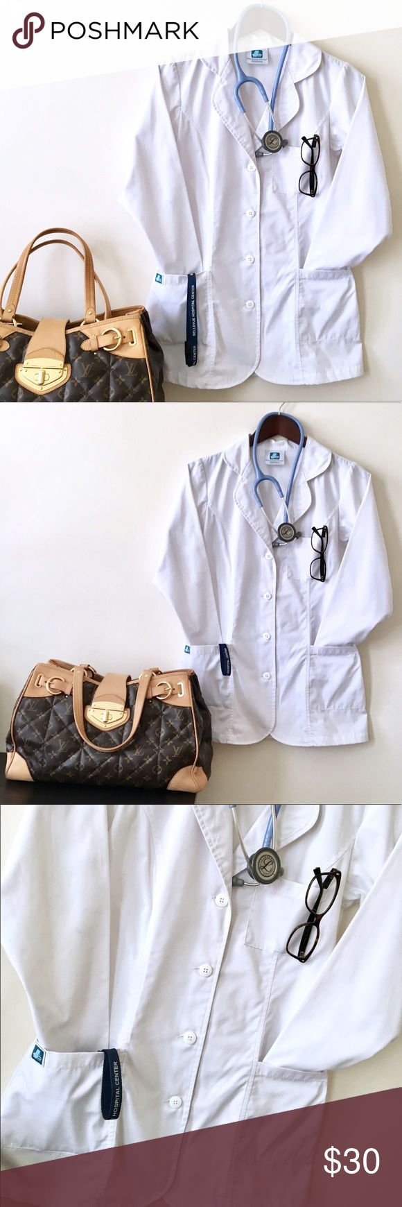 XXS White Lab Coat Bundle of 2! Perfect 4 Petites! EUC Size XXS White Lab Coat Bundle of 2! Perfect for Petites! I'm really crazy about how perfect my lab coats are so I go through a few every month. I found that most are huge on me out but these XXS coats are perfection. These have been used in the clinical setting so they aren't new but they are clean, bleached and washed in hot water. Great for nursing/med students with clinical rotations or bio majors with labs that require coats…