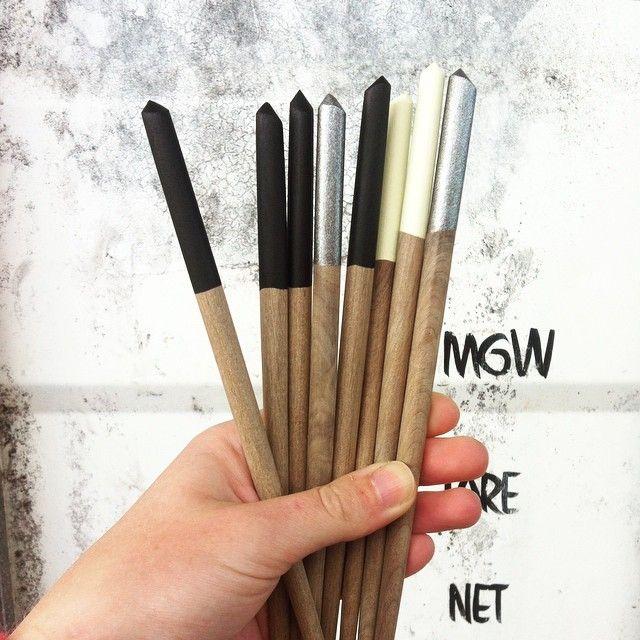 Handmade chopsticks // hues to match the weather