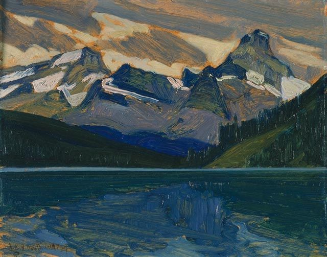 J.E.H. MacDonald (Canada, 1873-1932), Lake and Mountains, member of the group of seven