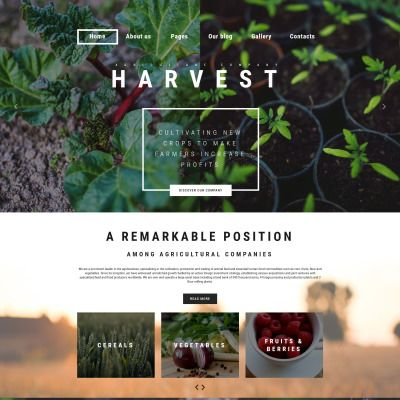 Harvest - Agriculture company Parallax Joomla Template