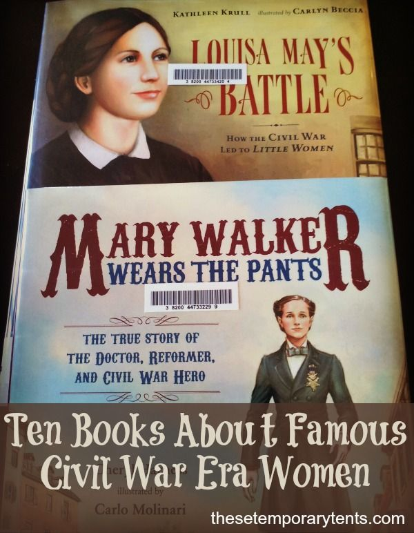 Study the Civil War through the stories of the women nurses, spies, soldiers, reformers, and more. Top 10 list of Civil War Women Books PLUS free notebooking pages.