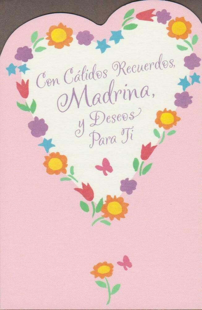 Spanish Greeting Card Mother S Day For Godmother With Warm Wishes Americangr Mother S Day Greeting Cards Spanish Greeting Cards Father S Day Greeting Cards