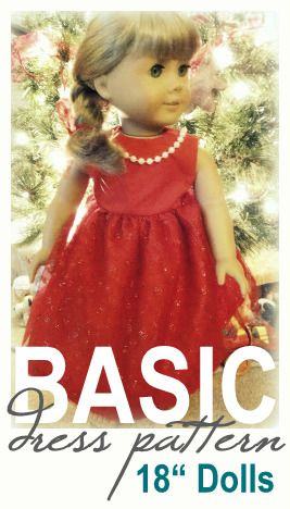 """Free Basic Dress Pattern for American Girl and 18"""" Dolls"""