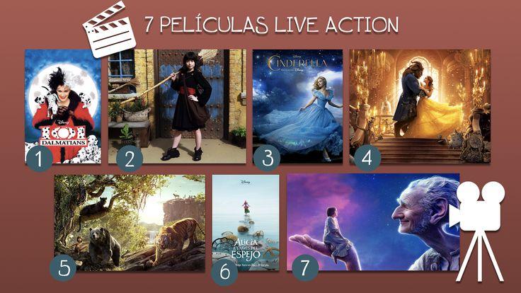 Te recomiendo estas 7 películas Live Action. En realidad tienes 14 películas para ver, pues puedes ver la versión animada y luego la versión con actores reales. Horas y horas de diversión.
