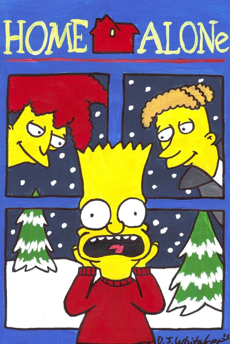 Simpsons Home Alone By Djgames Deviantart Com On