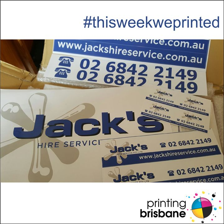 A whole range of goodies for the new owners of coonabarabrans jacks hire service stickers cards vehicle signage and more