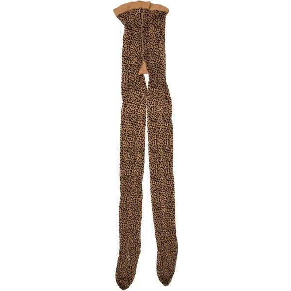 Pre-owned Wolford Baloo Cheetah Tights ($65) ❤ liked on Polyvore featuring intimates, hosiery, tights, animal print, cheetah print tights, animal print tights, wolford tights, wolford and patterned tights