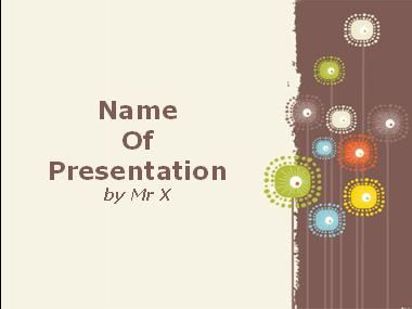 Colorful Sunflowers Powerpoint Presentation Template
