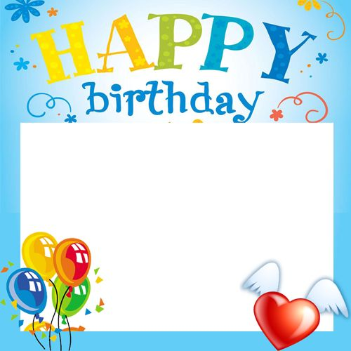Create Happy Birthday Celebration Photo Frame With Your