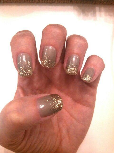 #nailart #nails #glitternails #sparklynails #goldglitter ##grayandgold Harmony Salon and Spa #LasVegasNails Warm Springs and Spencer