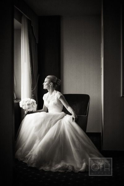 """This Anne Barge bride is a classic beauty wearing style """"Grace"""" for her New York Wedding."""