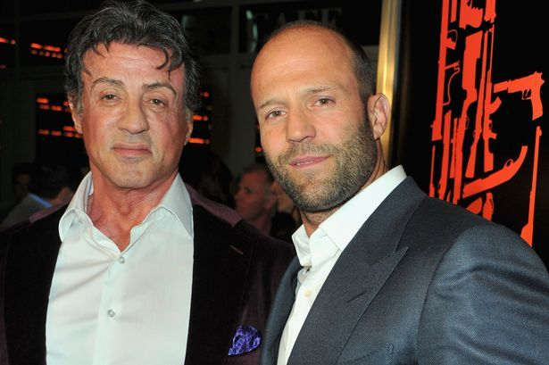 Sylvester Stallone & Jason Statham/ Lucky Escape Jason Statham leapt to safety from a truck he was driving before in plunged 60ft into the sea as a stunt when wrong. Fellow star Sylvester Stallone revealed former diver Jason's swimming skills saved his life after the wagon's brakes failed while filming action film The Expendables 3 .