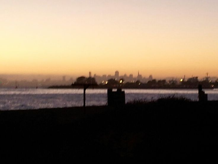 View of S.F. from Alameda Beach