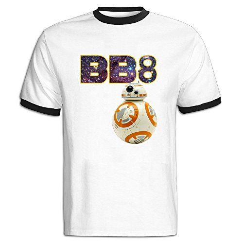 De Lin 5 Back To School Star Wars BB8 Robot Mens Short Sleeve Tshirts Black Review
