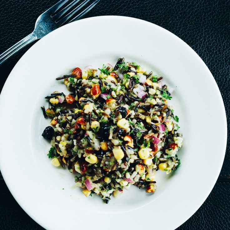 A tangy and nutty rice salad to serve with broiled fish, pan-roasted pork chops, or roast turkey.
