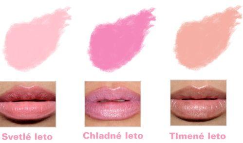 Líčenie - Farba rúžu pre letné typy - Supervizáž