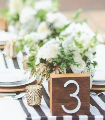 Modern Wedding - DIY Midcentury Table Numbers #2059919 - Weddbook