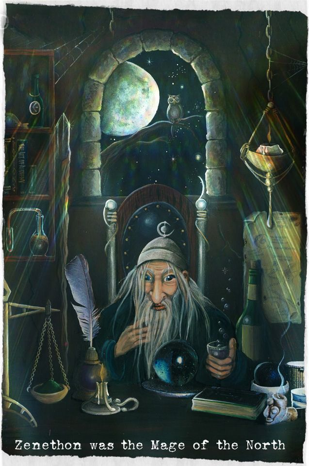 Wizard painting by Traci Howard(feythcrafts)
