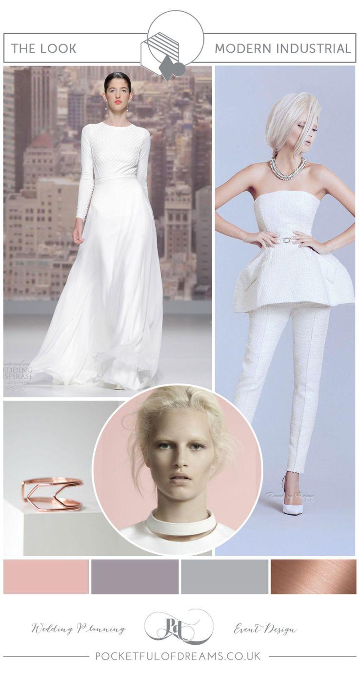 Bridal Inspiration Boards #79 ~ Modern Industrial Style - Minimalist Bride | Love My Dress® UK Wedding Blog