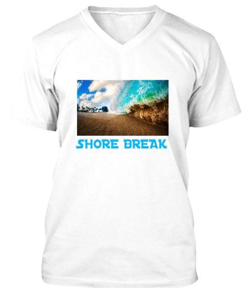 Shore Break White T-Shirt Front