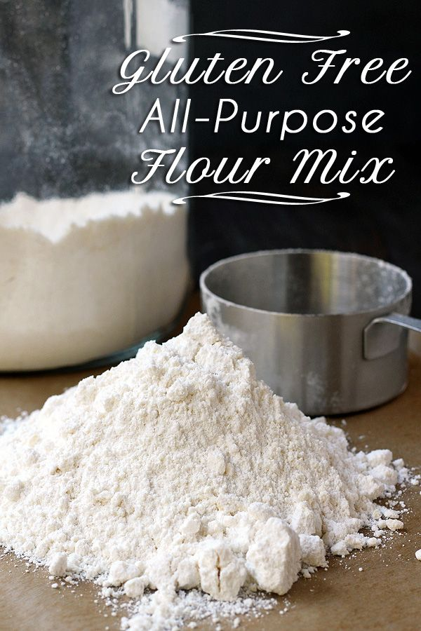 Oh-so-easy to make-ahead and use anytime gluten free all-purpose flour mix - uses almond flour, rice flour and starches