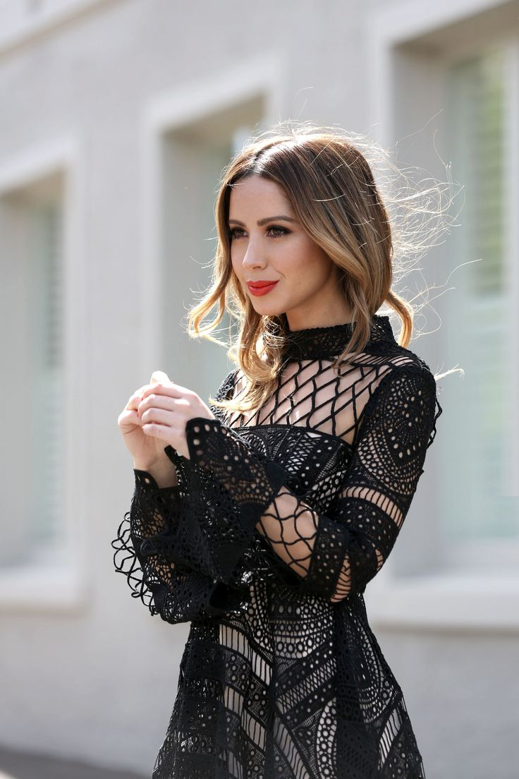 Decjuba black lace dress