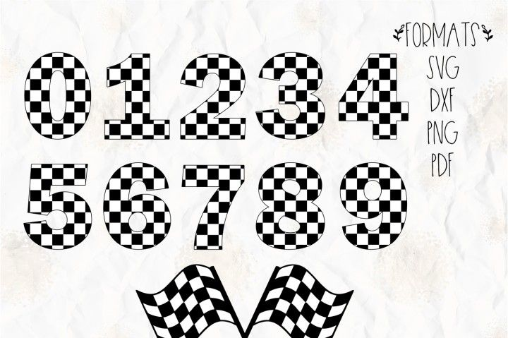 Checkered Numbers Race Flag Svg Png Dxf For Cricut Cameo By Svgbrewerydesigns Hot Wheels Birthday Car Birthday Theme Free Printable Crafts