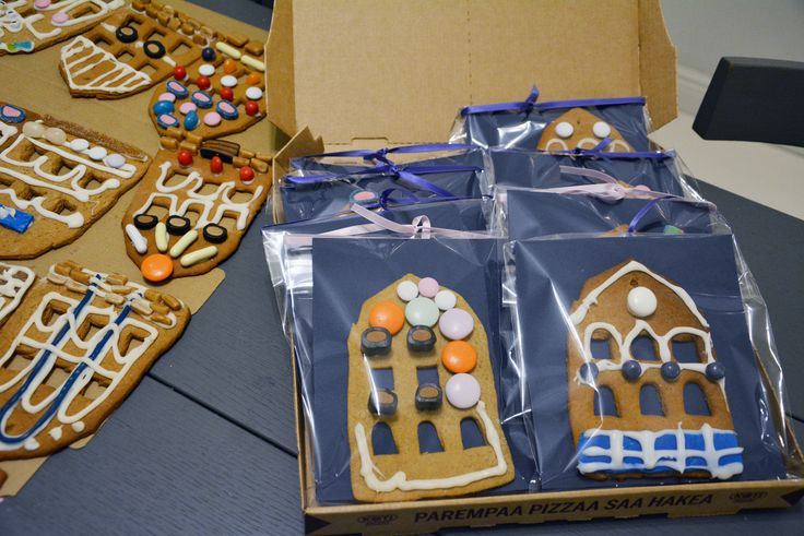 Make gingerbreads that look like your kids' school surface, decorate them (supported by some decoration&candy sponsors) and sell with a good price at school's Xmas Bazaar.