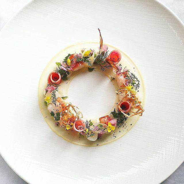 Salad of prawns by @nonoka_yame