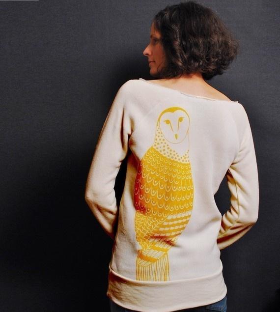 so clever. golden owl sweatshirt
