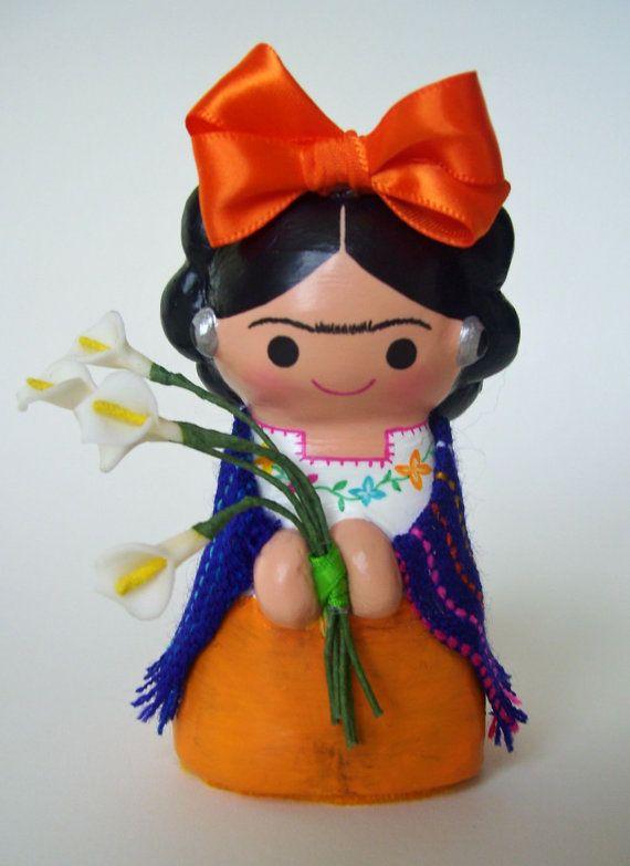 Frida Kahlo Paper Mache doll