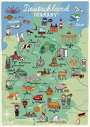 Poster Deutschland Kinderzimmer Landkarte Din A3 Unbekannt Https
