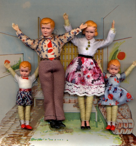 Dollhouse family I once owned this exact doll family.  They were the perfect for my Renwal furniture.
