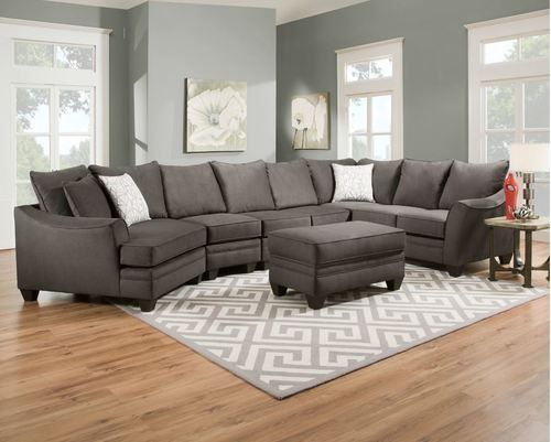 American Flannel Seal RSF XL Sectional Sofa 3810-SO